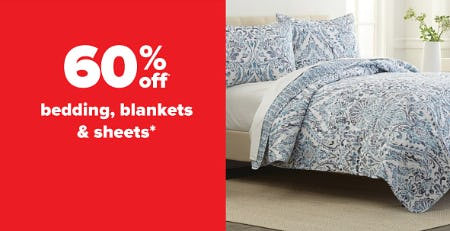 60% Off Bedding Blankets & Sheets