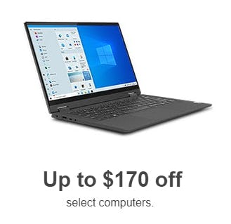 Up to $170 Off on Select Computers