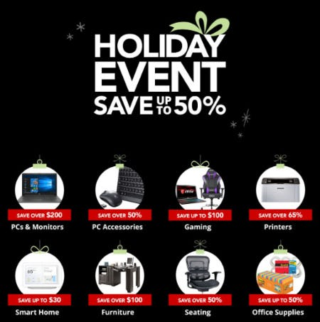 Up to 50% Off Holiday Event from Office Depot