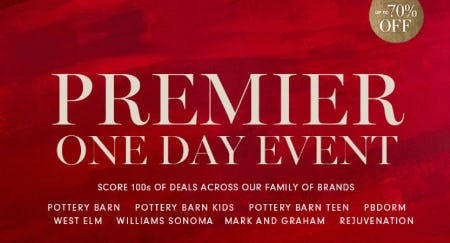 Premier One Day Event from Williams-Sonoma