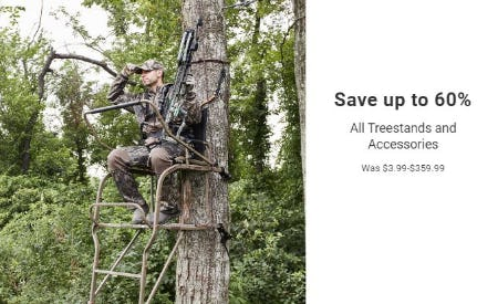 Save up to 60% All Treestands and Accessories from Dick's Sporting Goods
