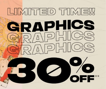 30% Off Graphics from PacSun