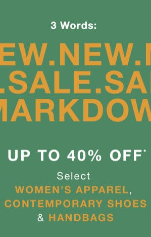 Up to 40% Off New Sale Markdowns from Saks Fifth Avenue