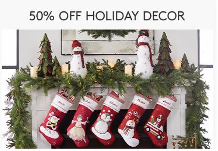 50% Off Holiday Decor from Pottery Barn Kids