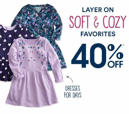 Soft & Cozy Favorites 40% Off