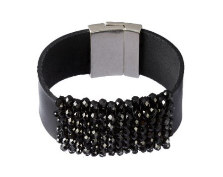 Beaded Leather Cuff from Everything But Water
