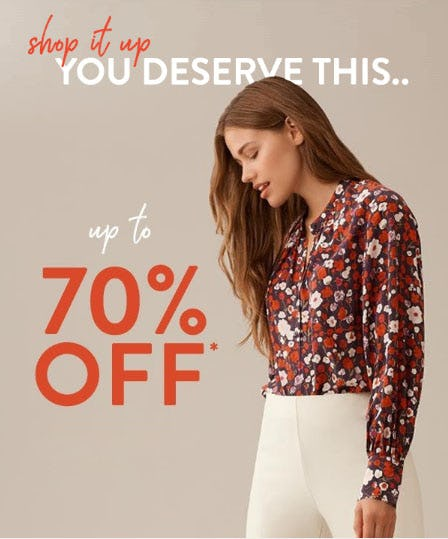 Up to 70% Off Sale from Saks Fifth Avenue