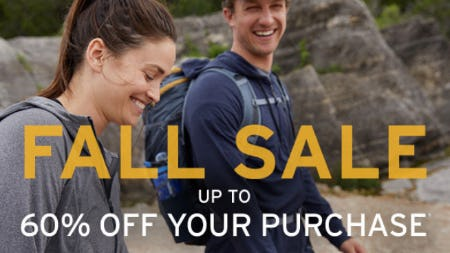 Up to 60% Off Fall Sale from Eddie Bauer