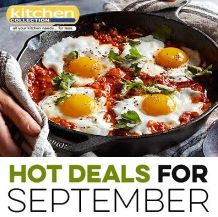 September_Kitchen Collection 2018 Sales Events & Promotions from Kitchen Collection