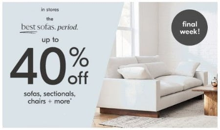 Up to 40% Off Sofas, Sectionals, Chairs & More from West Elm