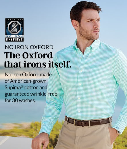 The Oxford That Irons Itself from Lands' End