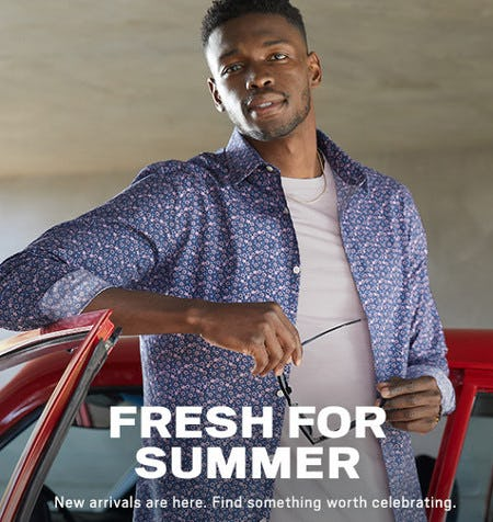 Fresh for Summer from Men's Wearhouse