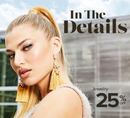 25% Off Jewelry