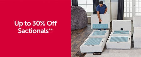 Up to 30% Off Sactionals