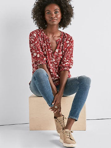 Floral Henley Top from Lucky Brand Jeans