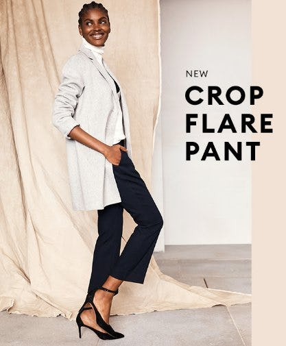 Meet our New Crop Flare Pant from Banana Republic Factory Store