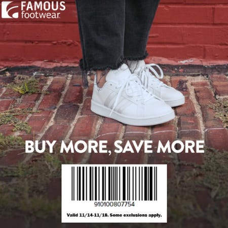 Famous Footwear Buy More Save More Event from Famous Footwear