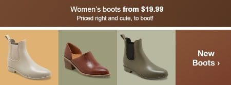Women's Boots From $19.99