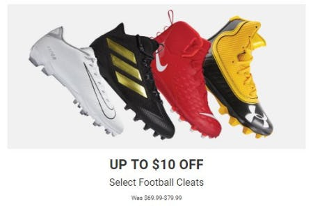 Up to $10 Off Select Football Cleats from Dick's Sporting Goods