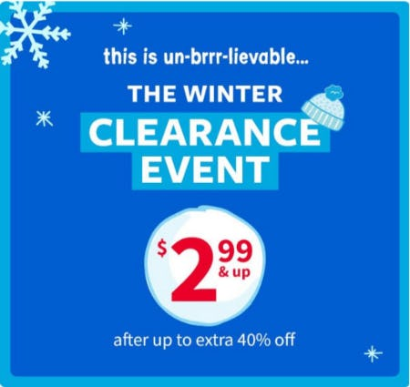 The Clearance Event $2.99 & Up