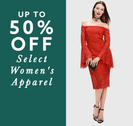 Up to 50% Off Select Women's Apparel