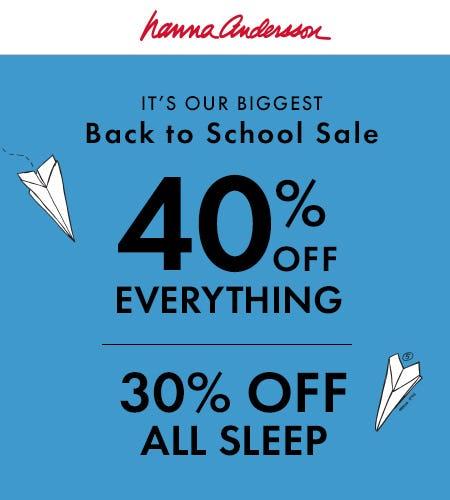 30% Off Sleep, 40% Off Everything Else