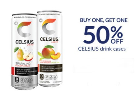 BOGO 50% Off Celsius Drink Cases