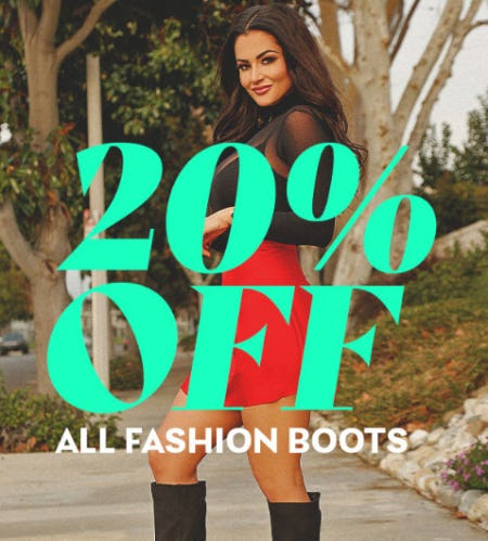 20% Off All Fashion Boots from Shiekh