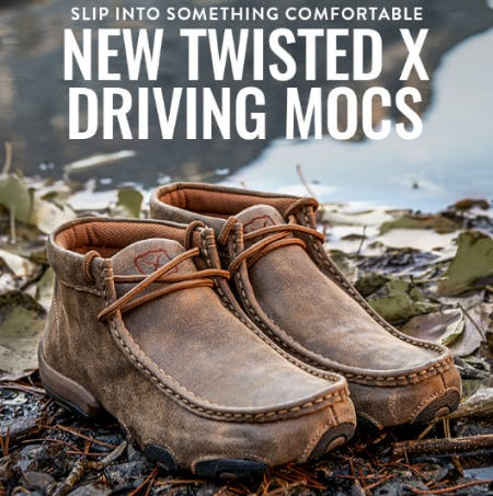 New Twisted X Driving Mocs from Boot Barn Western And Work Wear