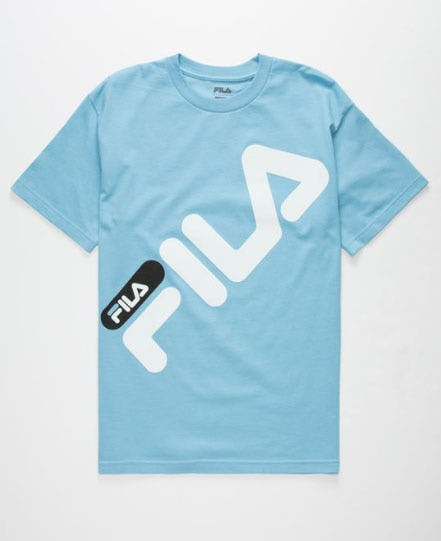 FILA Micah Light Blue Mens T-Shirt from Tilly's