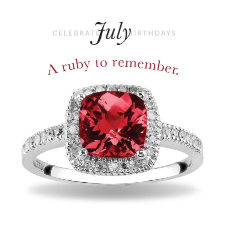 30% Off: July Ruby Birthstone Jewelry Sale from Rogers & Hollands Jewelers
