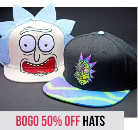 BOGO 50% Off Hats from Spencer Gifts