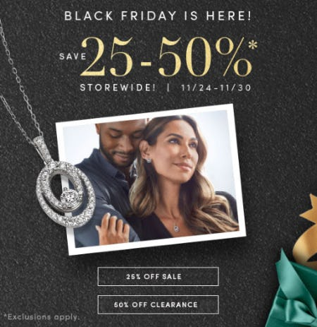 Save 25-50% Storewide from Jared Galleria of Jewelry