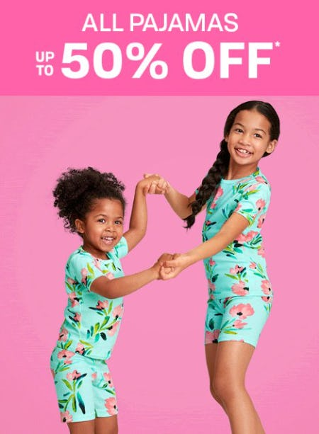All Pajamas up to 50% Off from The Children's Place