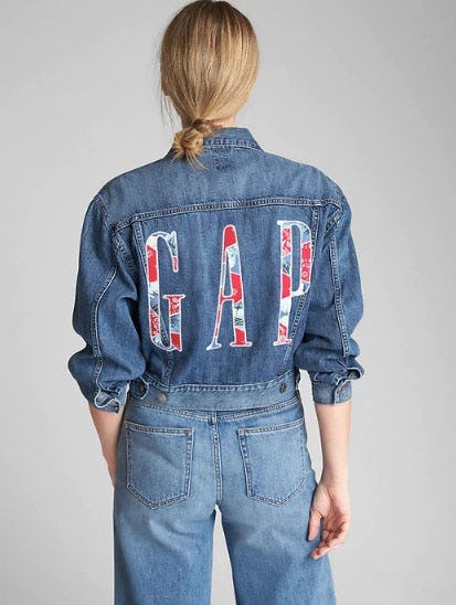 Oversize Logo Icon Denim Jacket from Gap