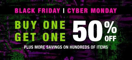 Buy 1, Get 1 50% Off Sale & Black Friday Deals