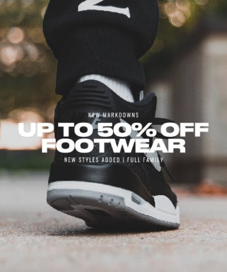 Up to 50% Off Footwear from DTLR