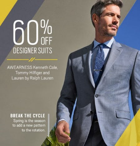 60% Off Designer Suits from Men's Wearhouse and Tux