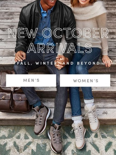 New October Arrivals Are In from Cole Haan