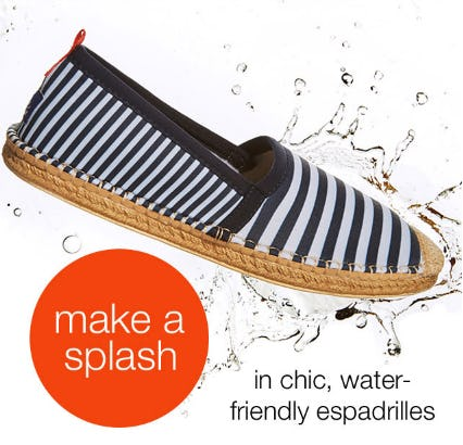 Our Espadrilles are Water Friendly from Everything But Water