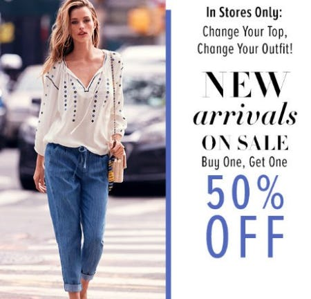 New Arrivals on Sale Buy One, Get One 50% Off from New York & Company