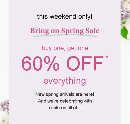 Buy One, Get One 60% Off Everything from maurices
