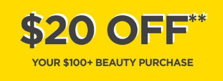 $20 Off Your $100 or More Beauty Purchase from Lord & Taylor