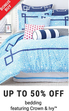 Up to 50% Off Bedding