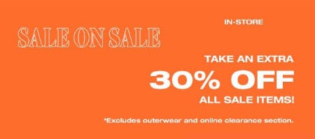 Extra 30% Off Sale from Garage