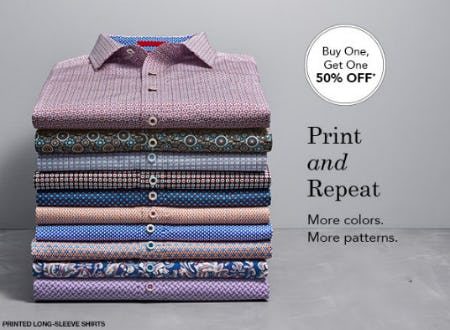 BOGO 50% Off Men's Perfect Fit Shirts from JOHNSTON & MURPHY