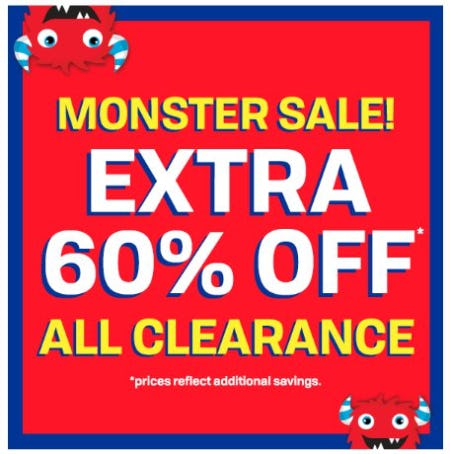 Monster Sale: Extra 60% Off All Clearance from The Children's Place Gymboree