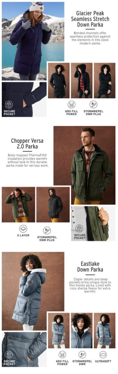 Our Favorite New Parkas for Winter from Eddie Bauer