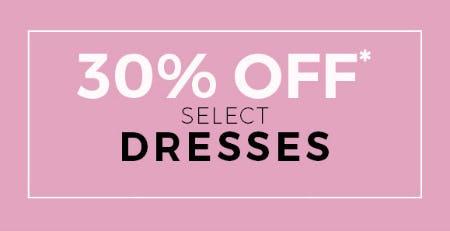 30% Off Select Dresses