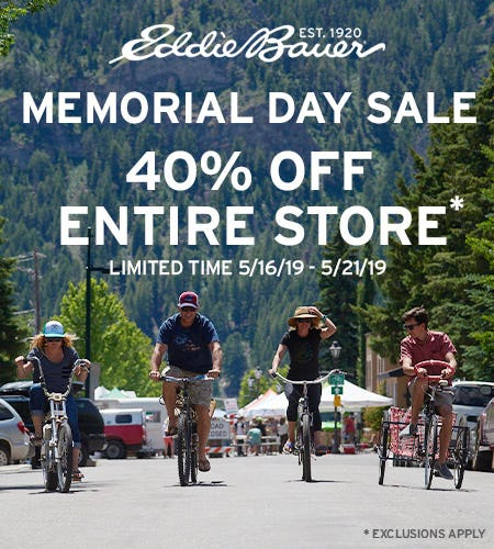Memorial Day Sale from Eddie Bauer